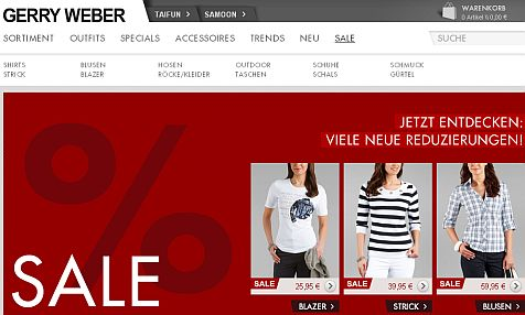Gerry weber outlet online shop